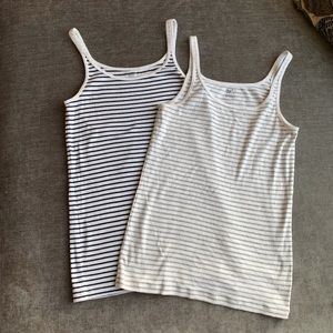 2 Gap Striped Tanks